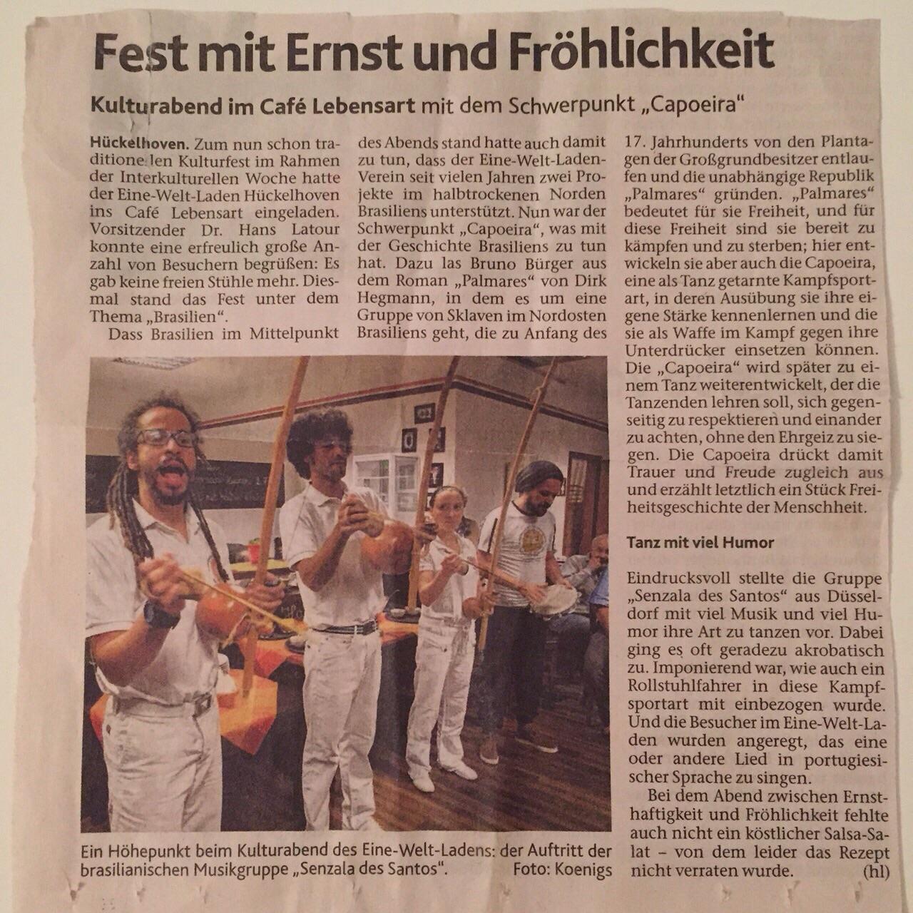 Evenement in Duitsland oktober 2014