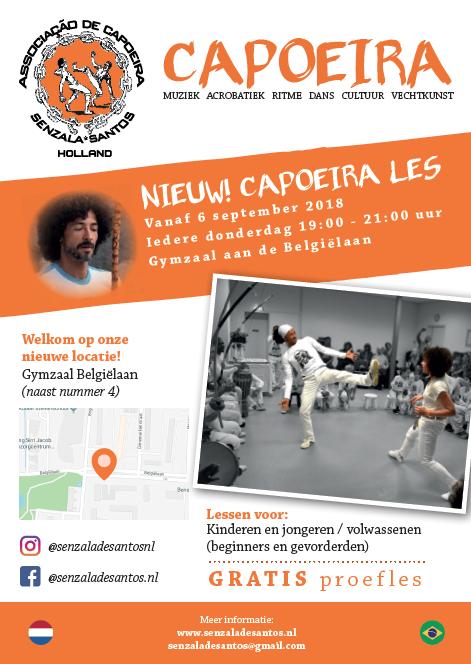 capoeira in Haarlem aan de Belgiëlaan